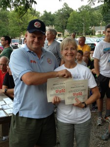 TFT Coordinator Cletis Evans & Donna Younger from Iroquois Hills Runners